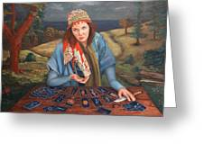 The Gypsy Fortune Teller Greeting Card
