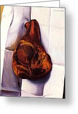 The Ham Greeting Card by Pg Reproductions