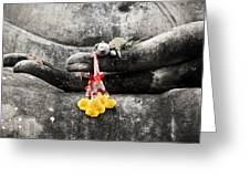 The Hand Of Buddha Greeting Card