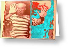 The Hands Of Picasso Greeting Card