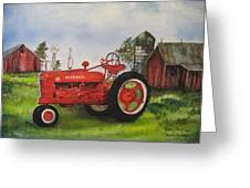 The Hansen Tractor Greeting Card
