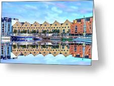 The Harbor At Galway Greeting Card