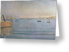 The Harbour At Portrieux Greeting Card