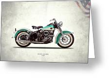 The Harley Duo-glide 1958 Greeting Card