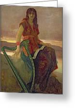 The Harpist Greeting Card by Antoine Auguste Ernest Herbert