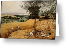 The Harvesters By Pieter Bruegel The Elder                             Greeting Card