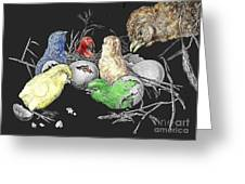 The Hatching Of Chicks. Greeting Card