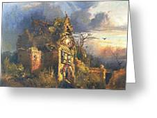 The Haunted House Greeting Card by Thomas Moran