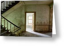 The Haunted Staircase - Abandoned Building Greeting Card