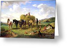 The Hay Harvest Greeting Card