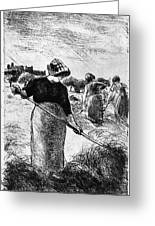 The Hayymaker Camille Pissarro Greeting Card
