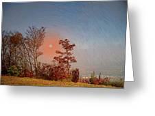 The Hazy Horizon. Greeting Card