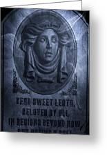 The Headstone Of Madame Leota Greeting Card