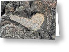 The Heart In Stone Greeting Card