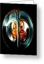 The Heart Of Chaos Abstract Greeting Card
