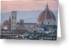 The Heart Of Florence Italy Greeting Card