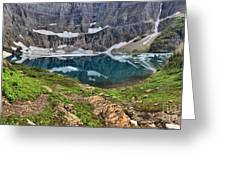 The Heart Of Many Glacier Greeting Card