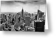 New York City Skyline Bw Greeting Card