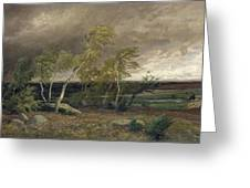 The Heath In A Storm Greeting Card