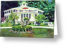 The Hexagon House, Bed And Breakfast, House Painting Greeting Card