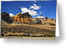 The High Andes Painted Version Greeting Card