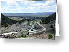 The Highway And The River Greeting Card