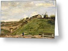 The Hill Of Montmartre With Stone Quarry Greeting Card