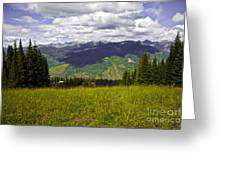 The Hills Are Alive In Vail Greeting Card