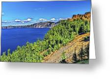 The Hills Of Crater Lake Oregon Greeting Card