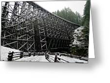 The Historic Kinsol Trestle 3. Greeting Card