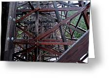 The Historic Kinsol Trestle  Inside View Greeting Card