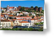 The Historic Town Of Silves In Portugal Greeting Card