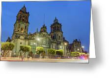 The Historical Mexico City Metropolitan Cathedral Greeting Card