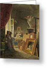 The History Painter Greeting Card