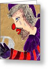 The Hobo Circus Clown Greeting Card