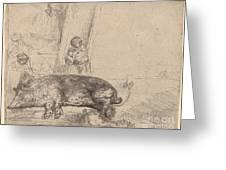 The Hog Greeting Card