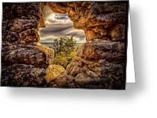 The Hole In The Wall Greeting Card