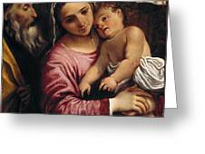 The Holy Family , Annibale Carracci Greeting Card