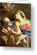 The Holy Family Greeting Card by Gaetano Gandolfi