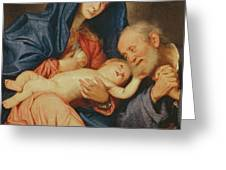 The Holy Family With A Basket  Greeting Card