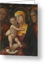 The Holy Family With Saint Mary Magdalen 1500 Greeting Card