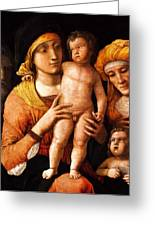 The Holy Family With St Elizabeth And St John The Baptist 1505 Greeting Card