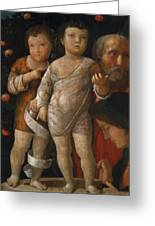 The Holy Family With St John Greeting Card
