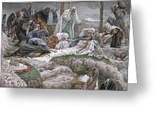 The Holy Virgin Receives The Body Of Jesus Greeting Card by Tissot