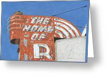 The Home Of R Greeting Card