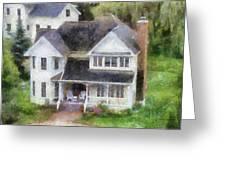 The Homes Of Mackinac Island Michigan 02 Pa Greeting Card