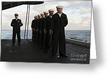 The Honor Guard Stands At Parade Rest Greeting Card by Stocktrek Images