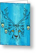 The Horned Cheetah Greeting Card