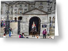 The Horse Guard At Whitehall Greeting Card