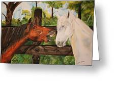 The Horse Whisperers Greeting Card